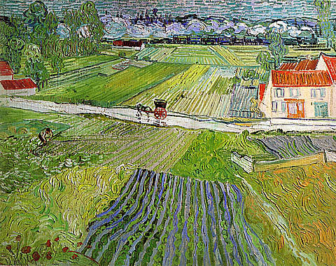 Vincent Van Gogh-Landscape With Train