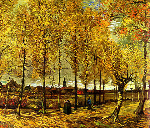 Vincent Van Gogh-Lane With Poplars