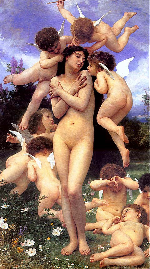 William Adolphe Bouguereau-Le Printemps