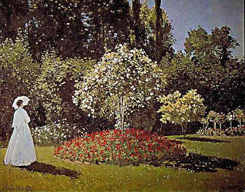 Claude Monet-Lacaore in the Garden