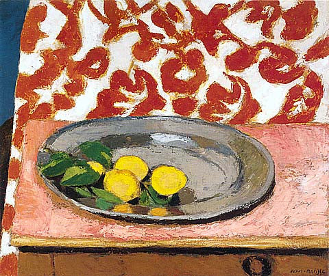 Henri Matisse-Lemons On A Pewter Plate