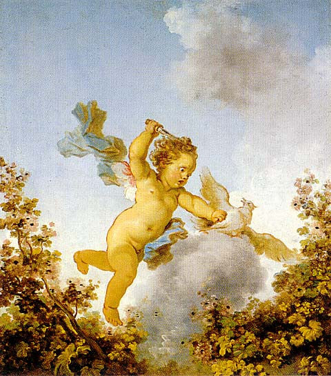 Jean Honore Fragonard-Love Pursuing A Dove