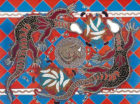 Terry Johnstone (Tobwabba Art)-Place of Goanna