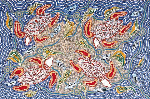 Terry Johnstone (Tobwabba Art)-Turtle Feed