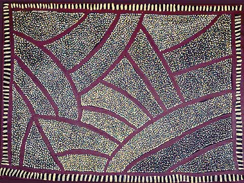 Nancy Petyarre (Dacou Aboriginal Gallery)-Mountain Devil Dreaming