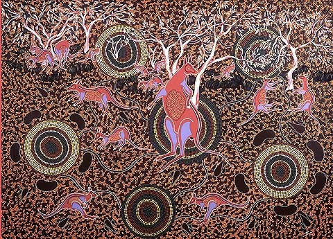 Terry Johnstone (Tobwabba Art)-Bush Kangaroos