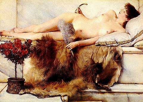 S. L. Alma-Tadema-In The Tepidarium