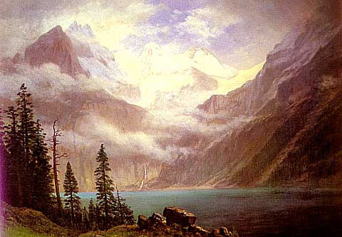 Albert Bierstadt-Mountain Scene