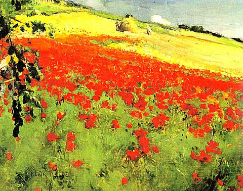 Blair Bruce-Landscape with Poppies