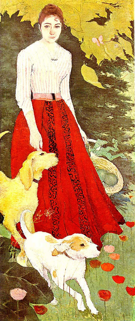 Bonnard-Miss Bonnard with her dogs