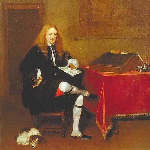 Borch-Portrait in Study