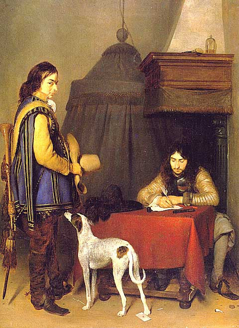 Borch-Officer Writing a Letter
