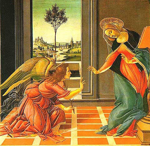 Sandro Botticelli-The Cestello Annunciation