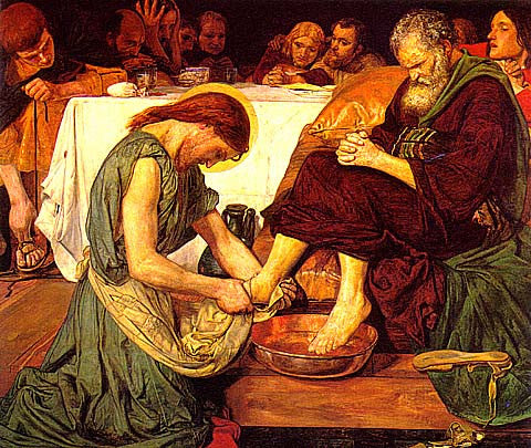 F. M. Brown-Christ Washing Peters Feet