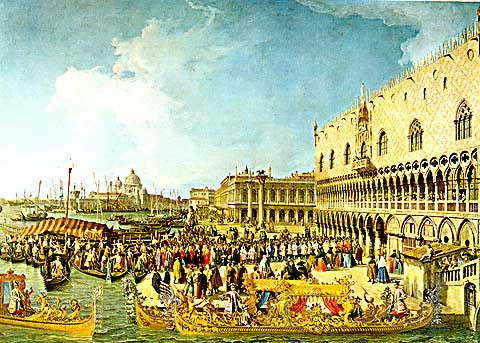 Canaletto-The Reception of the French Ambassador in Venice