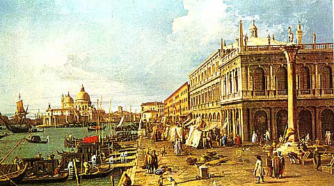 Canaletto-The Molo looking West