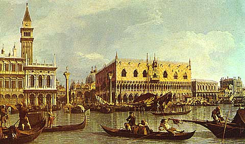 Canaletto-The Molo and Piazzetta