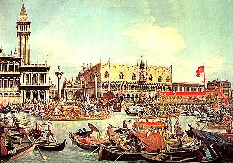 Canaletto-Ascension Day in Venice