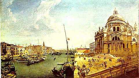 Canaletto- Entrance To The Grand Canal
