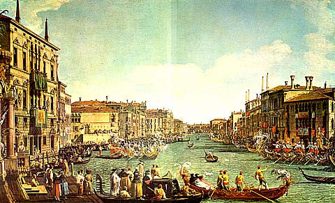 Canaletto-Regatta In The Grand Canal