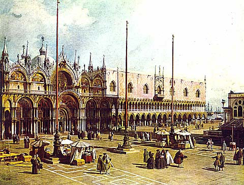 Canaletto-The Piazza San Marco Venice