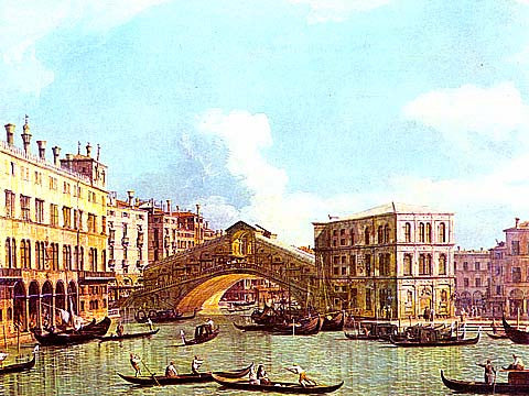 Canaletto-Rialto Bridge Venice