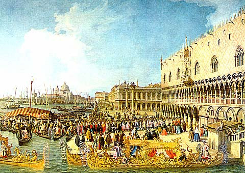 Canaletto-The Reception Of The Imperial Ambassador