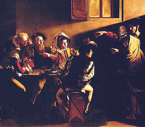 Caravaggio-The Calling of Saint Matthew