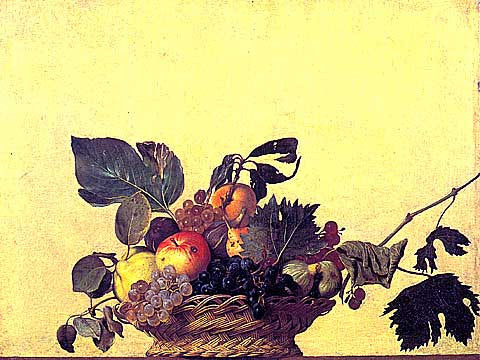 Caravaggio-Basket Of Fruits