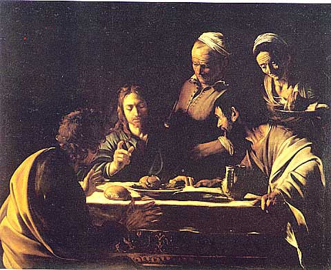 Caravaggio-Supper In Emmaus