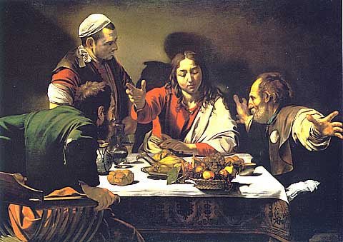 Caravaggio-Supper In Emmaus-1