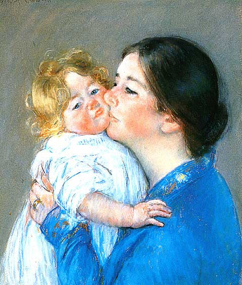 Mary Cassatt-Kiss For Baby Anne