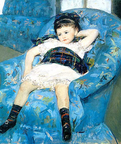 Mary Cassatt-Child in a Blue chair