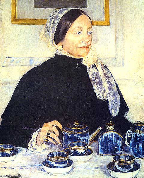 Mary Cassatt-Lady at the tea table