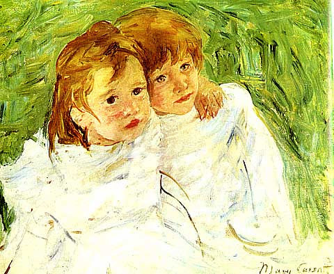 Mary Cassatt-Little sisters