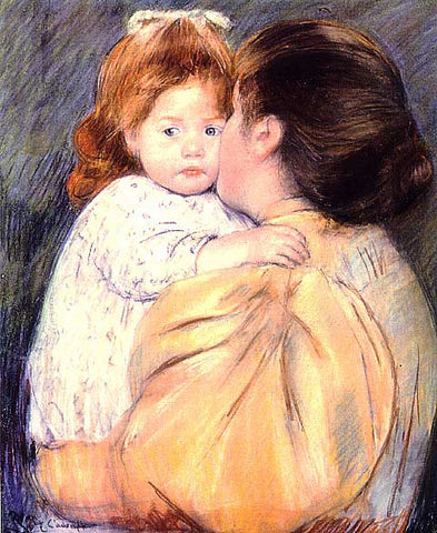 Mary Cassatt-Maternal Kiss