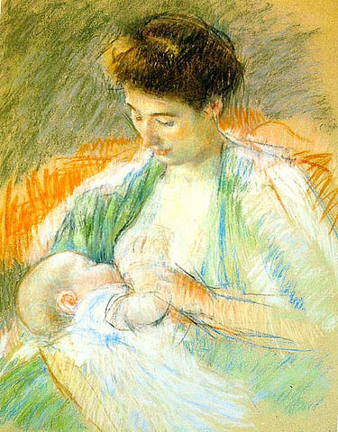 Mary Cassatt-Mother nursing her child