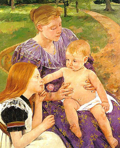 Mary Cassatt- Mother with children