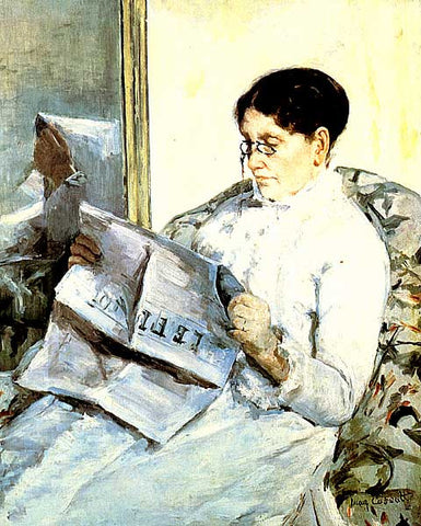 Mary Cassatt-Reading the Figaro