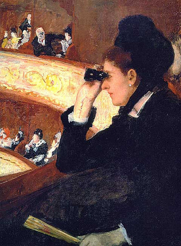 Mary Cassatt-At The Opera