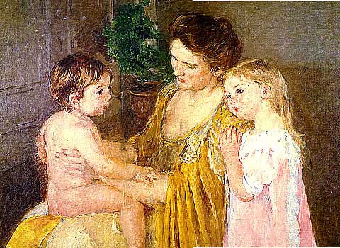 Mary Cassatt-Woman and Children