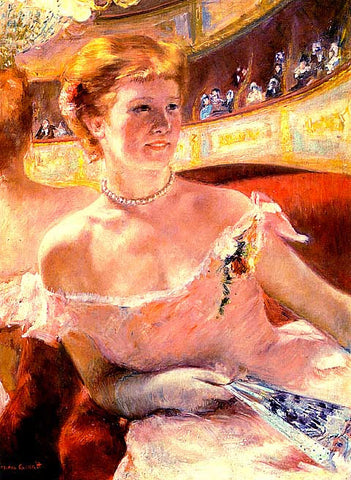 Mary Cassatt-Woman with a pearl necklace