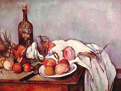 Paul Cezanne-Still Life with Onions