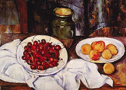 Paul Cezanne-Still Life with Cherries