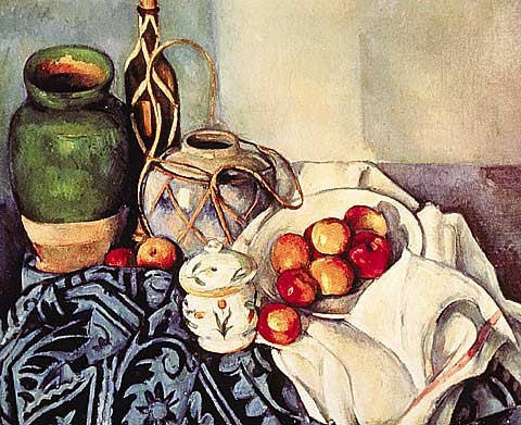 Paul Cezanne-Still Life with Pots