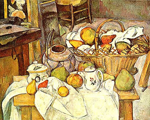 Paul Cezanne-Still Life With Basket