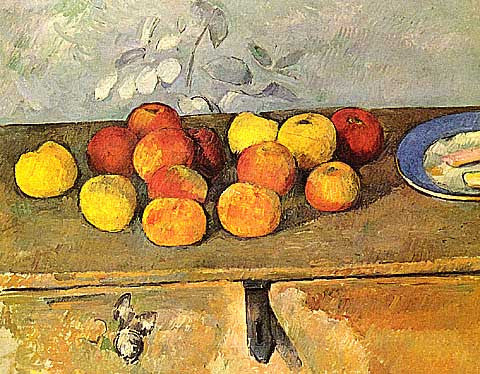 Paul Cezanne-Still Life With Apples