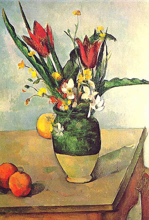 Paul Cezanne-Vase of Tulips