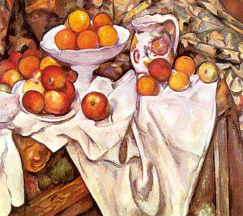 Paul Cezanne-Still Life With Jar