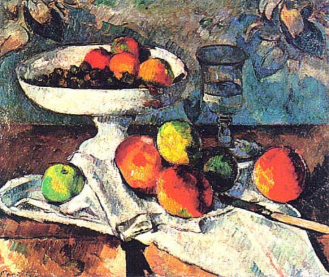 Paul Cezanne-Still Life With Fruit Bowl